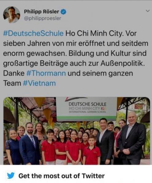 Besuch Philipp Rösler International German School Ho Chi Minh City (IGS)-Rösler