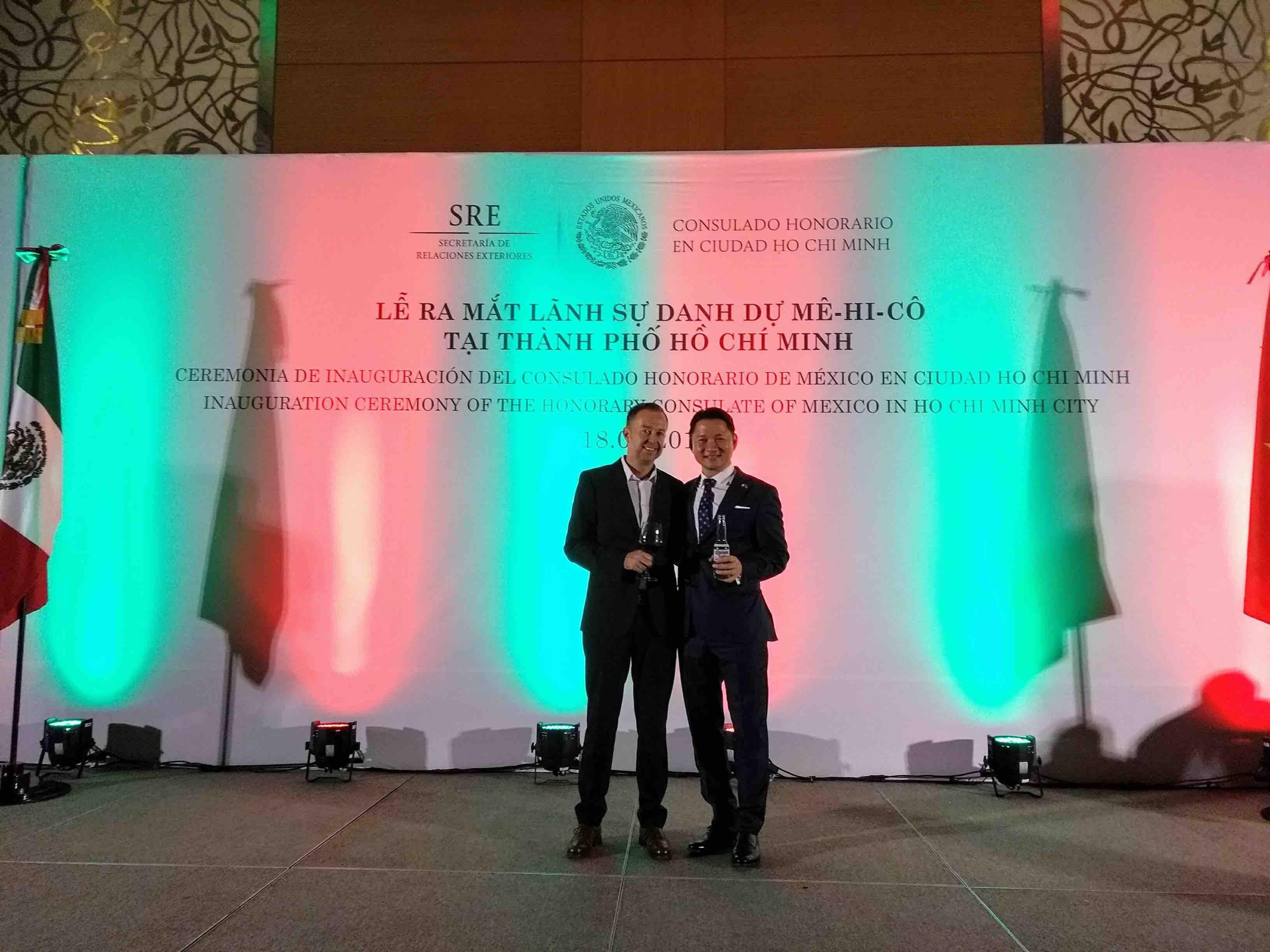 Amtseinführung des Mexikanischen Honorarkonsuls in Vietnam