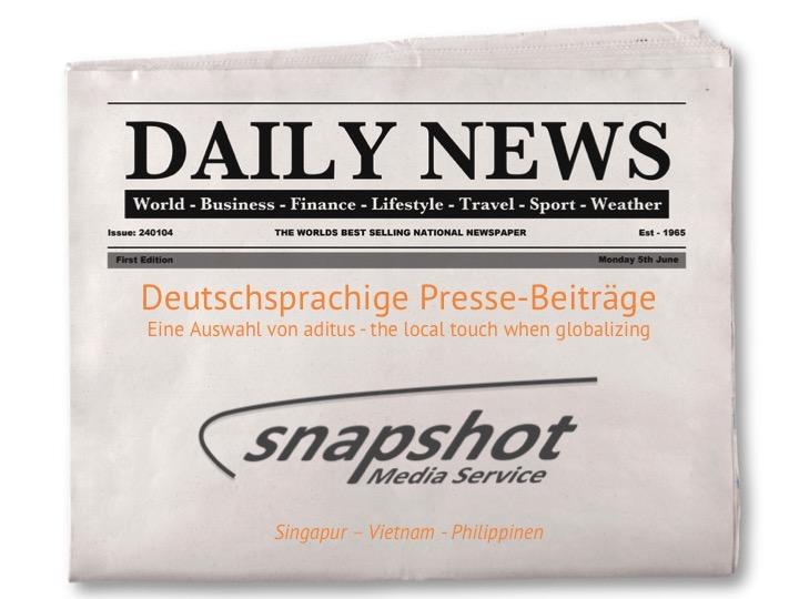 Heute Neu – Medienecho, deutschsprachige Pressebeiträge über Südostasien