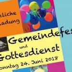 Gottesdienst und Gemeindefest – diesen Sonntag!