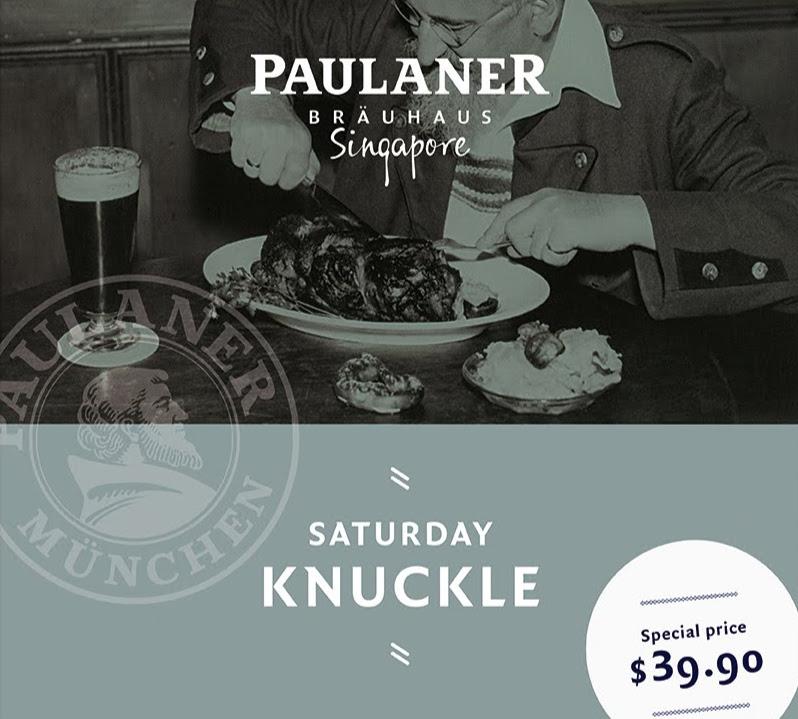 Saturday Knuckle im Paulaner Bräuhaus Singapore!