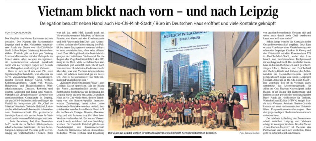 Delegation aus  Leipzig besucht Vietnam